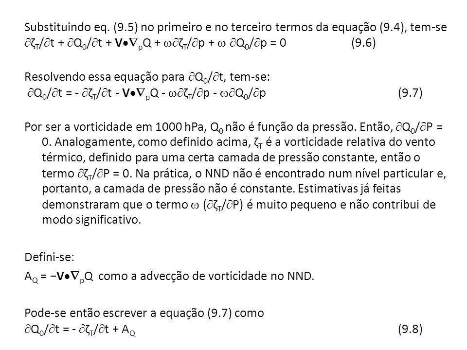 Substituindo eq. (9. 5) no primeiro e no terceiro termos da equação (9