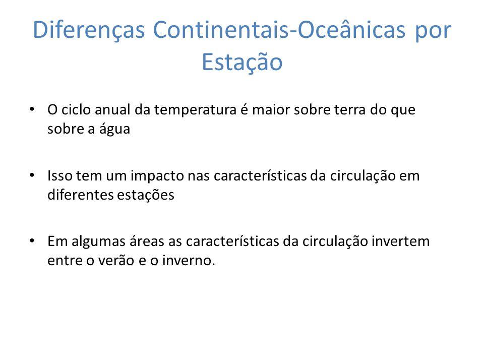 Diferenças Continentais-Oceânicas por Estação
