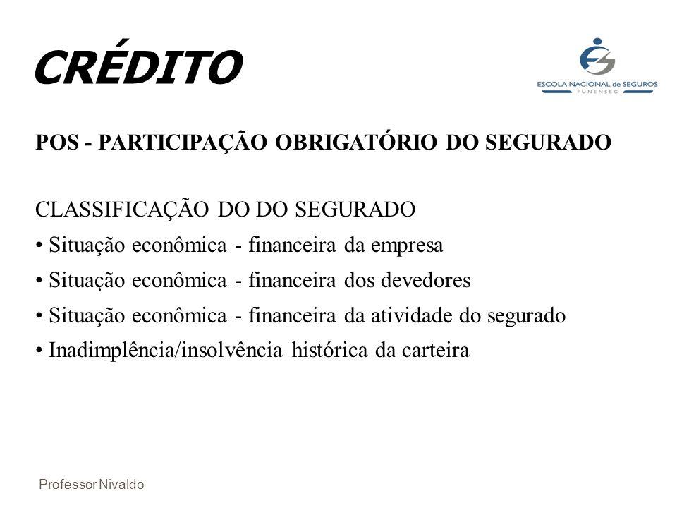 CRÉDITO POS - PARTICIPAÇÃO OBRIGATÓRIO DO SEGURADO