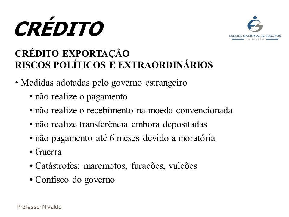 CRÉDITO CRÉDITO EXPORTAÇÃO RISCOS POLÍTICOS E EXTRAORDINÁRIOS