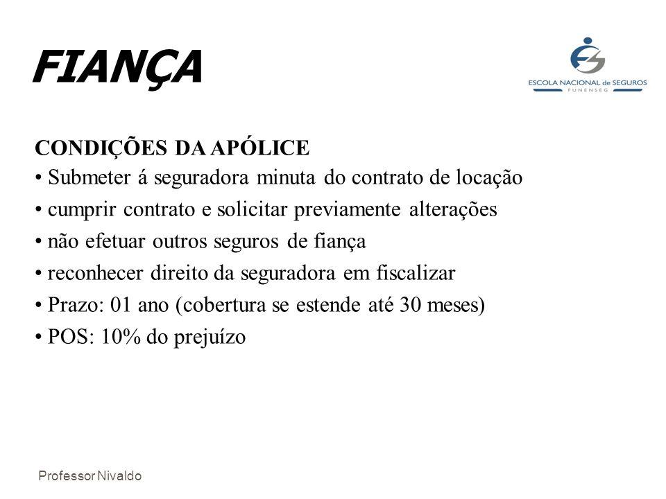 FIANÇA CONDIÇÕES DA APÓLICE