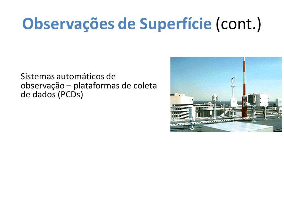 Observações de Superfície (cont.)