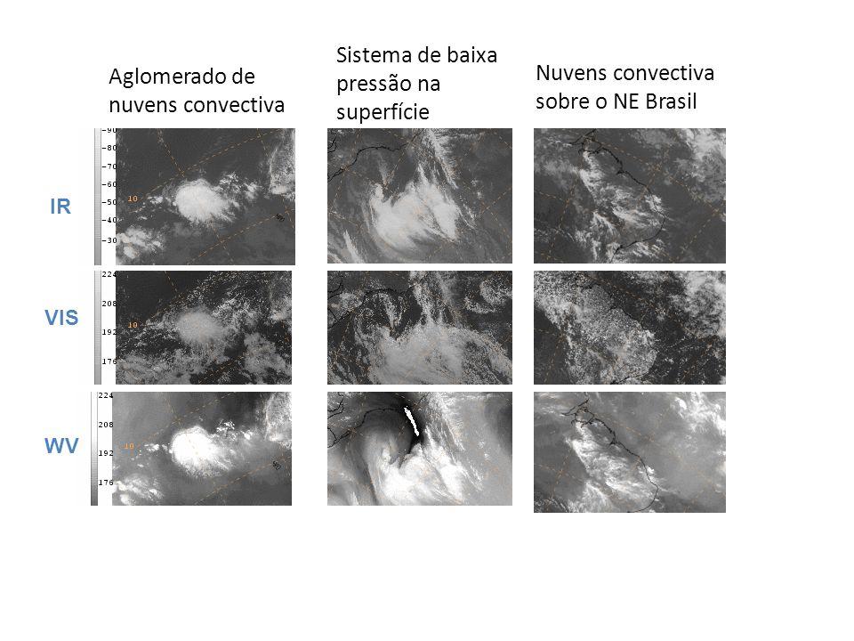 Sistema de baixa pressão na superfície Aglomerado de nuvens convectiva