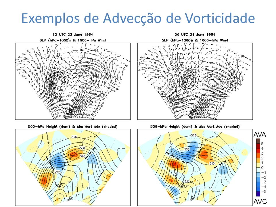 Exemplos de Advecção de Vorticidade