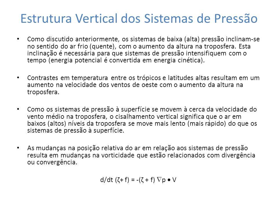 Estrutura Vertical dos Sistemas de Pressão