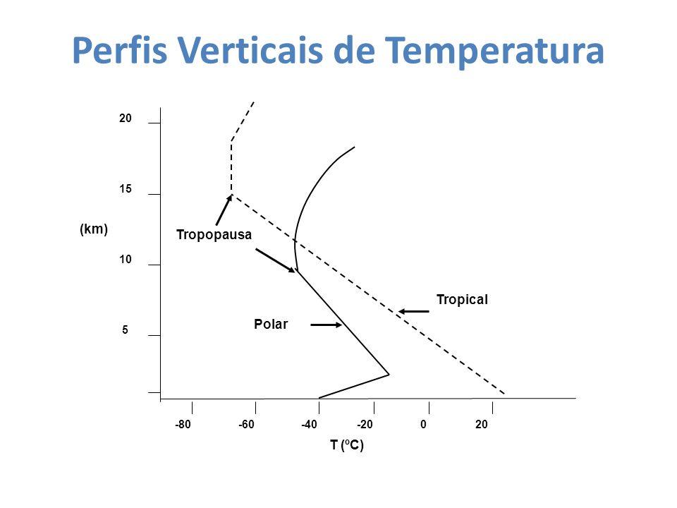 Perfis Verticais de Temperatura