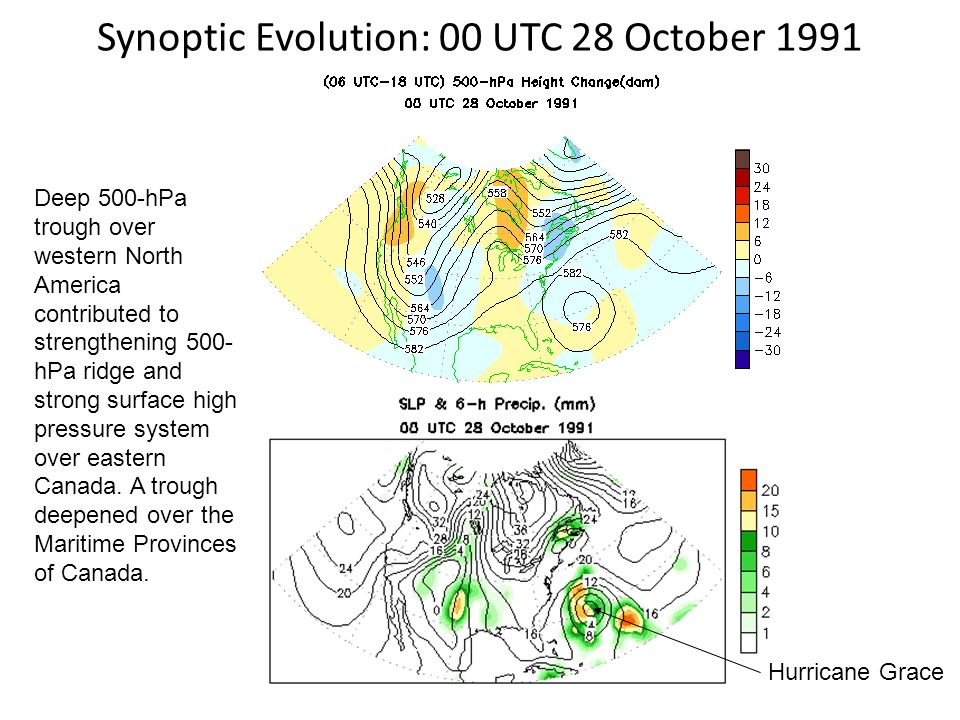 Synoptic Evolution: 00 UTC 28 October 1991