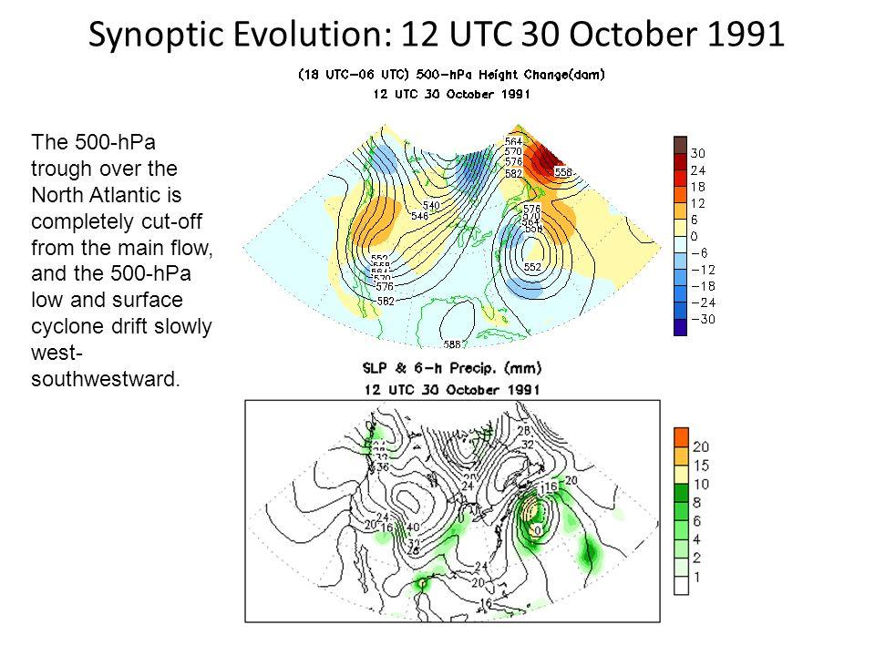 Synoptic Evolution: 12 UTC 30 October 1991