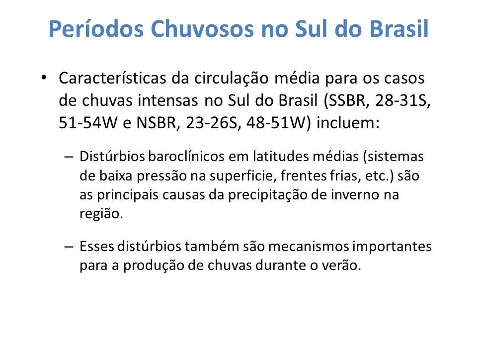 Períodos Chuvosos no Sul do Brasil