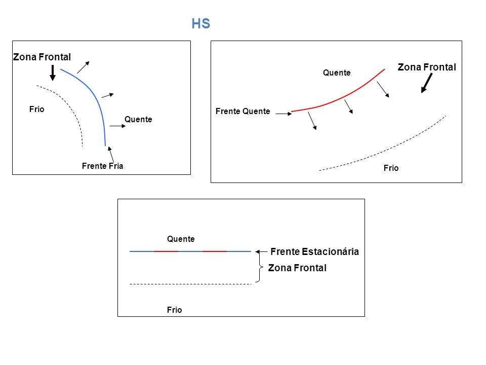 HS Zona Frontal Zona Frontal Frente Estacionária Zona Frontal Quente