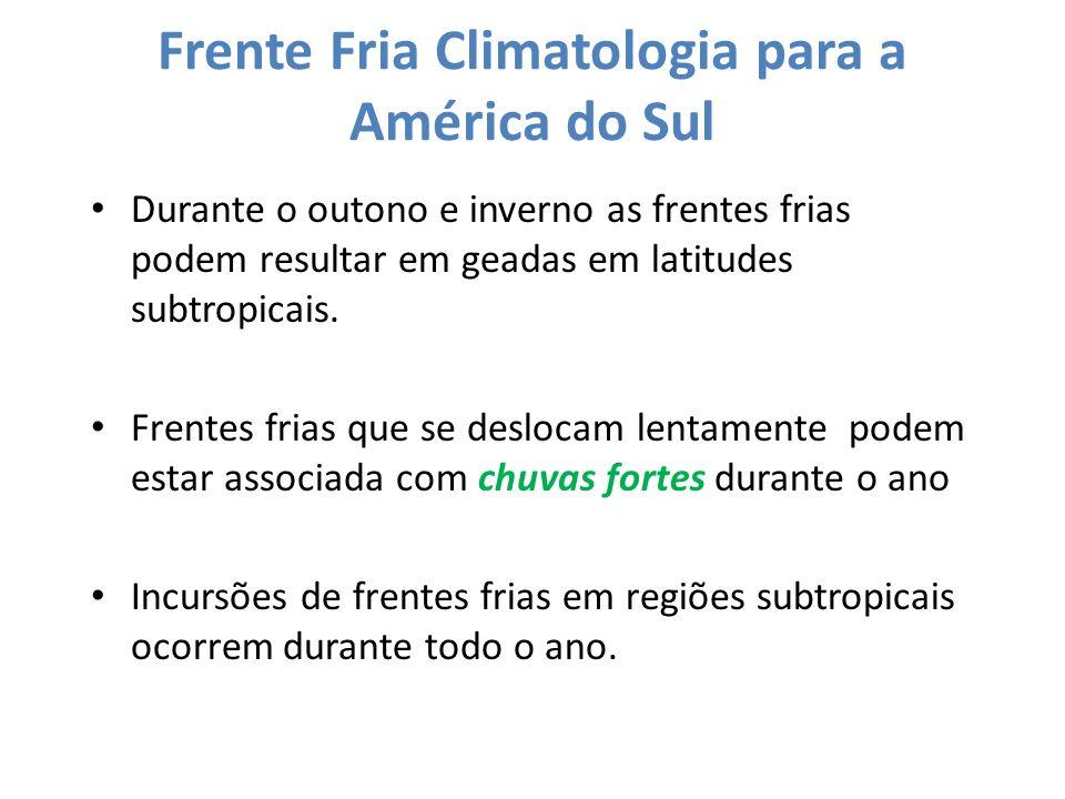 Frente Fria Climatologia para a América do Sul
