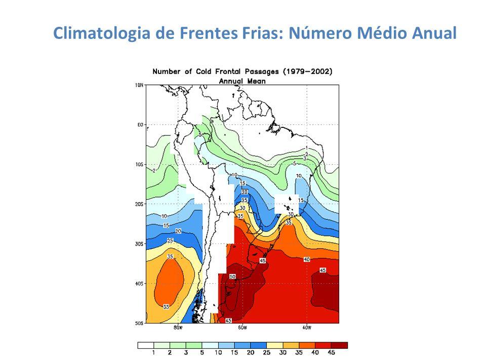 Climatologia de Frentes Frias: Número Médio Anual