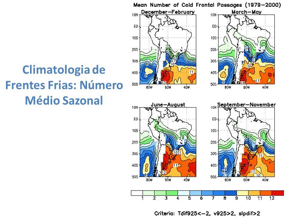 Climatologia de Frentes Frias: Número Médio Sazonal