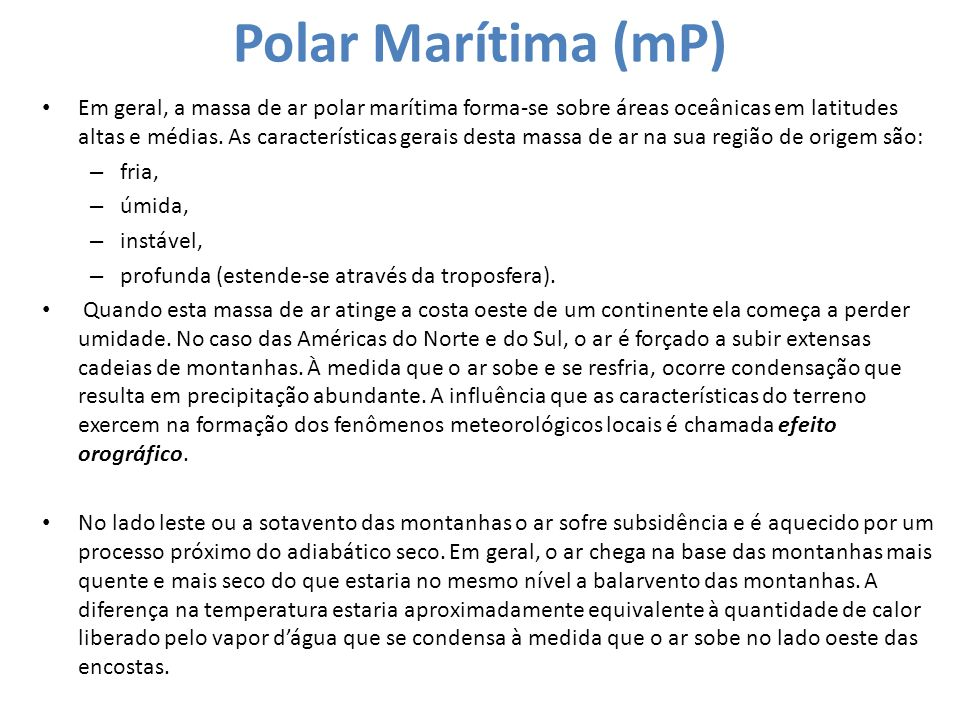 Polar Marítima (mP)