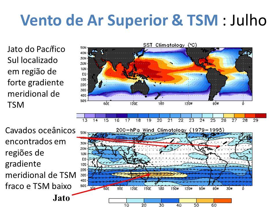 Vento de Ar Superior & TSM : Julho