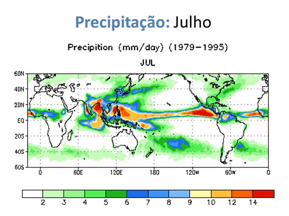 Precipitação: Julho