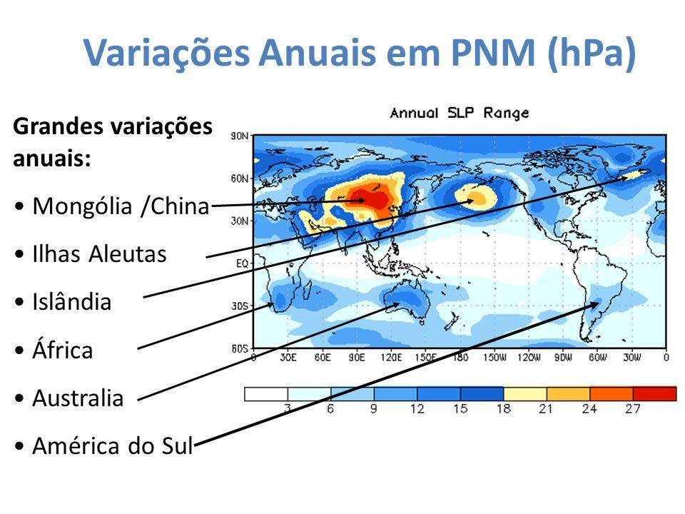 Variações Anuais em PNM (hPa)