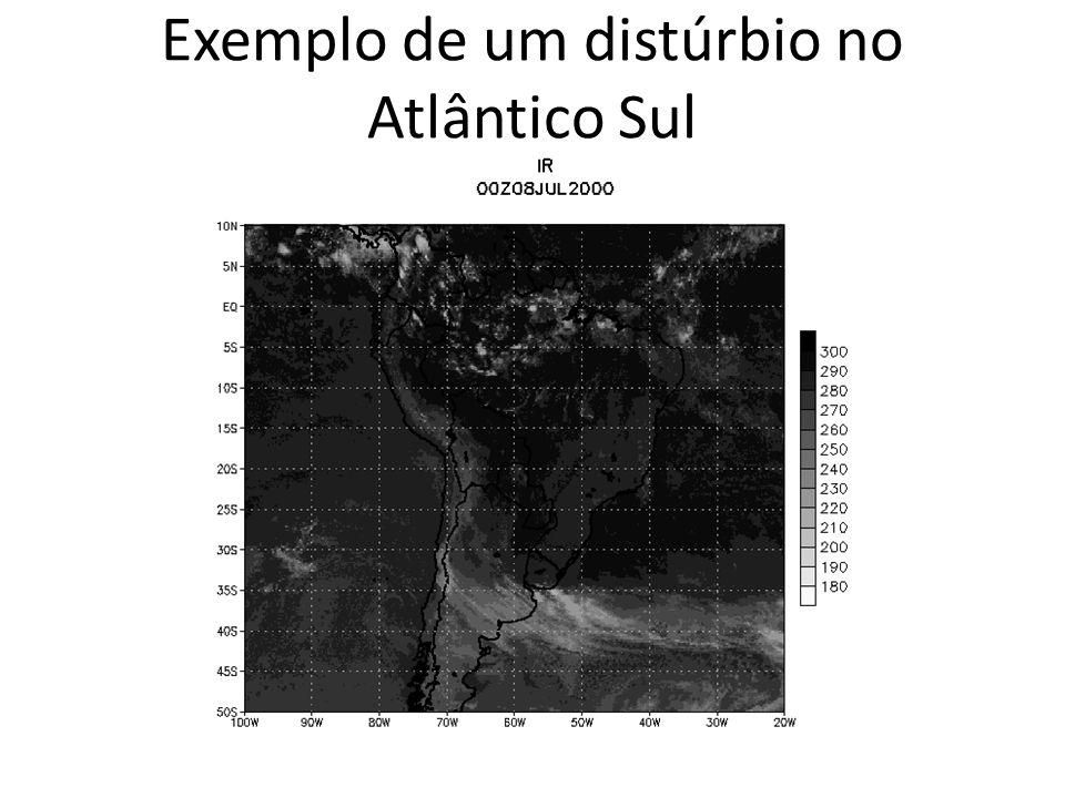 Exemplo de um distúrbio no Atlântico Sul