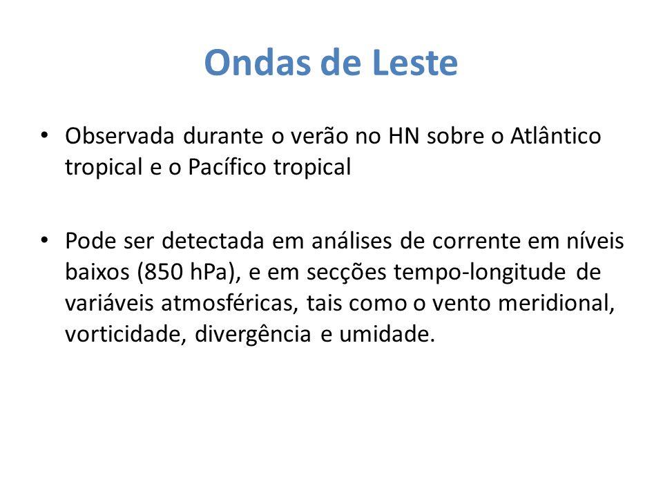 Ondas de Leste Observada durante o verão no HN sobre o Atlântico tropical e o Pacífico tropical.