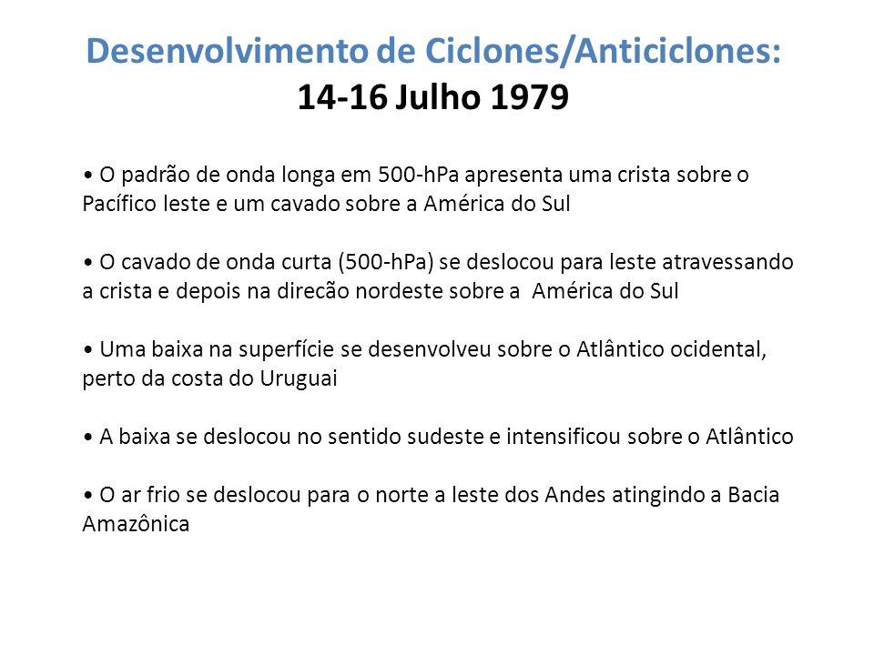 Desenvolvimento de Ciclones/Anticiclones: 14-16 Julho 1979