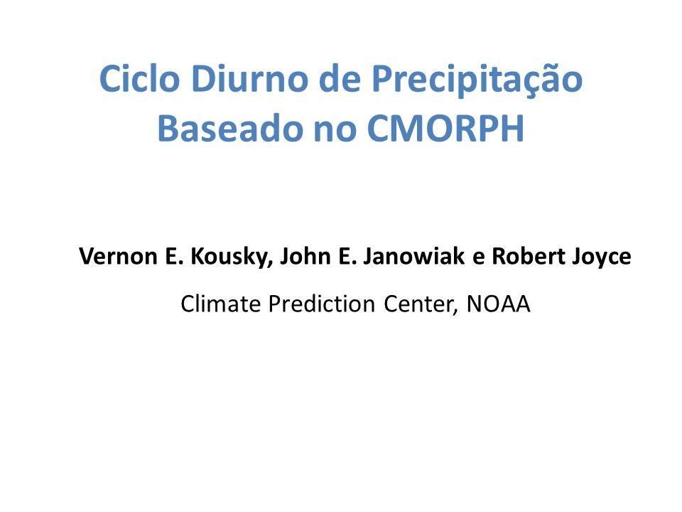Ciclo Diurno de Precipitação Baseado no CMORPH