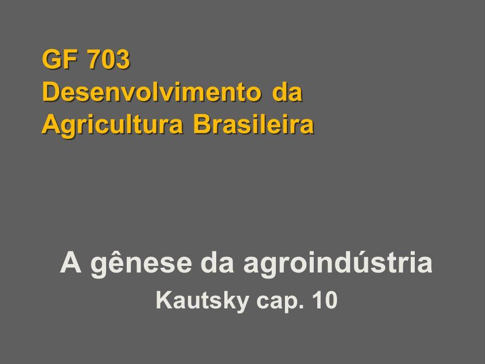 GF 703 Desenvolvimento da Agricultura Brasileira
