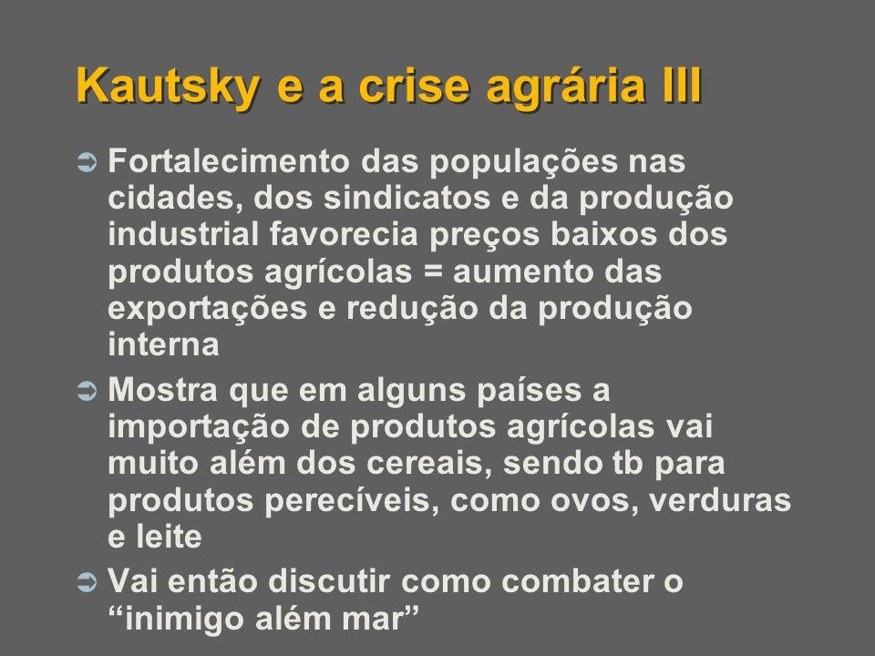 Kautsky e a crise agrária III