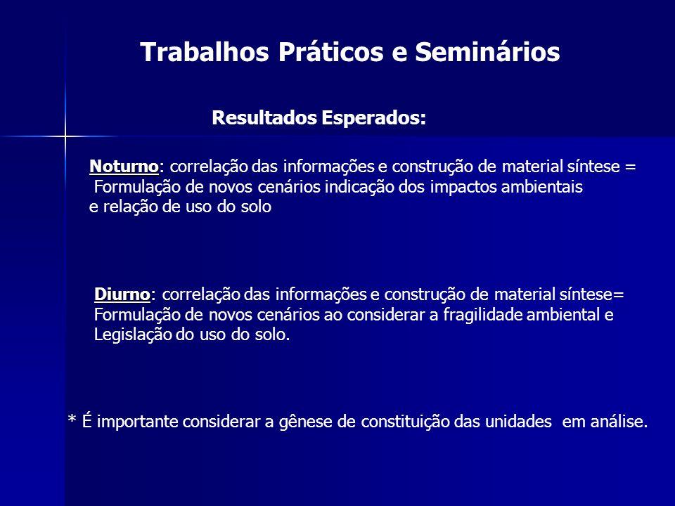 Trabalhos Práticos e Seminários