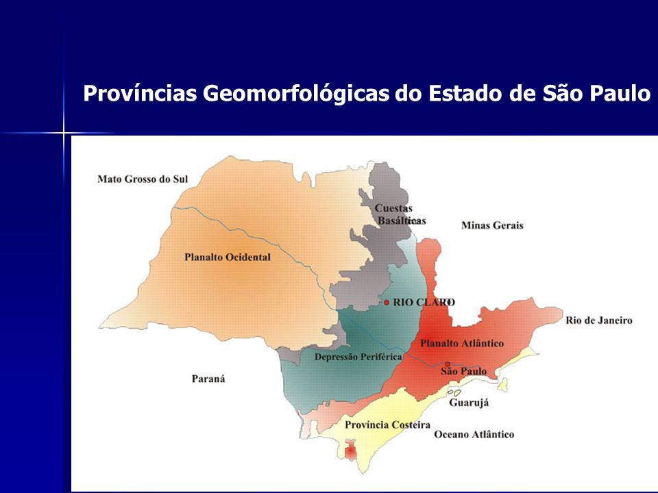 Províncias Geomorfológicas do Estado de São Paulo