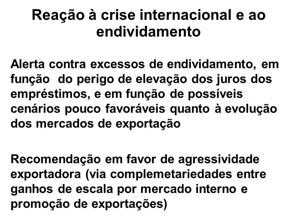 Reação à crise internacional e ao endividamento