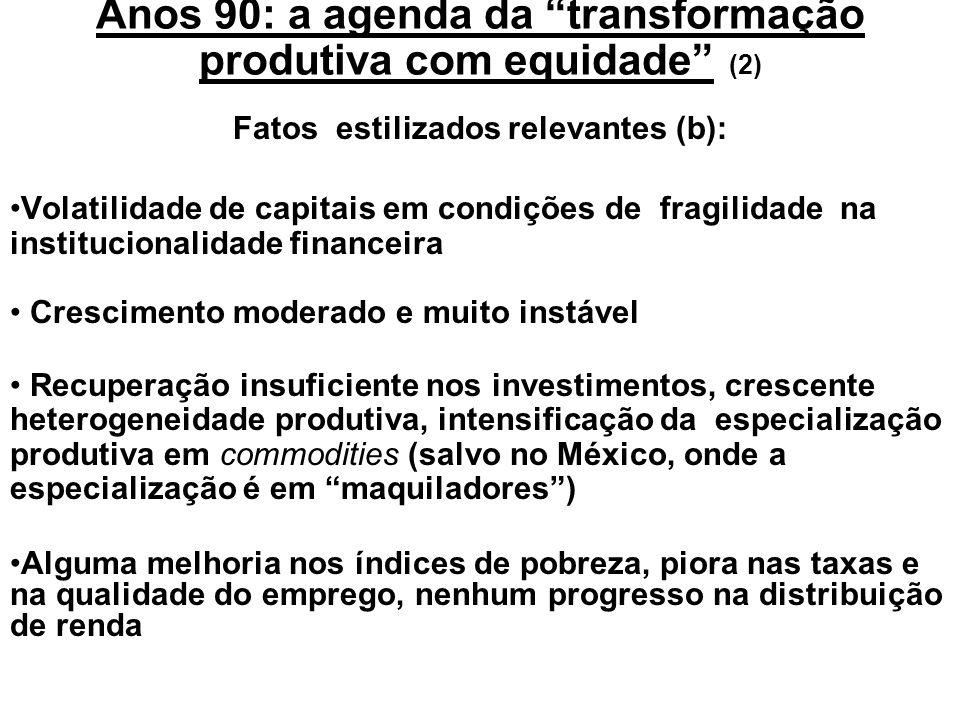 Anos 90: a agenda da transformação produtiva com equidade (2)