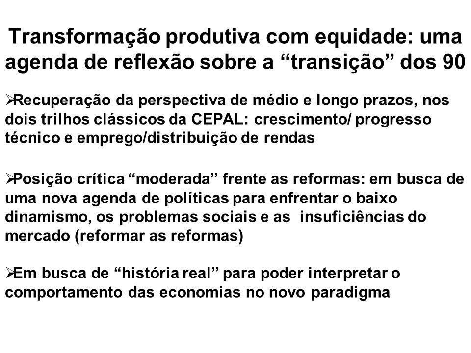 Transformação produtiva com equidade: uma agenda de reflexão sobre a transição dos 90