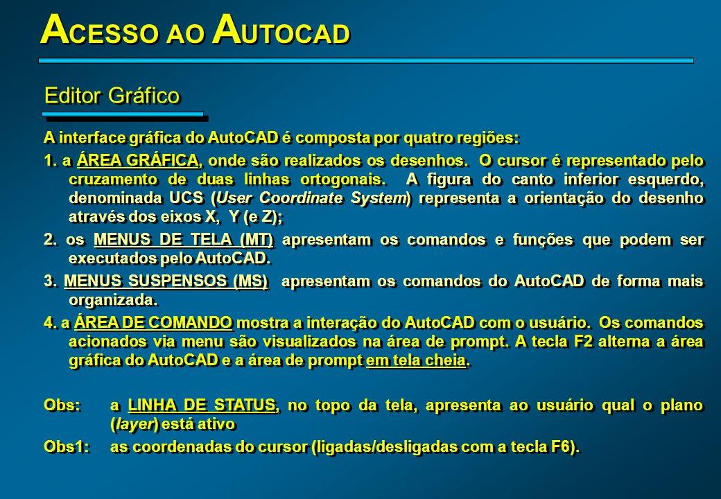 ACESSO AO AUTOCAD Editor Gráfico