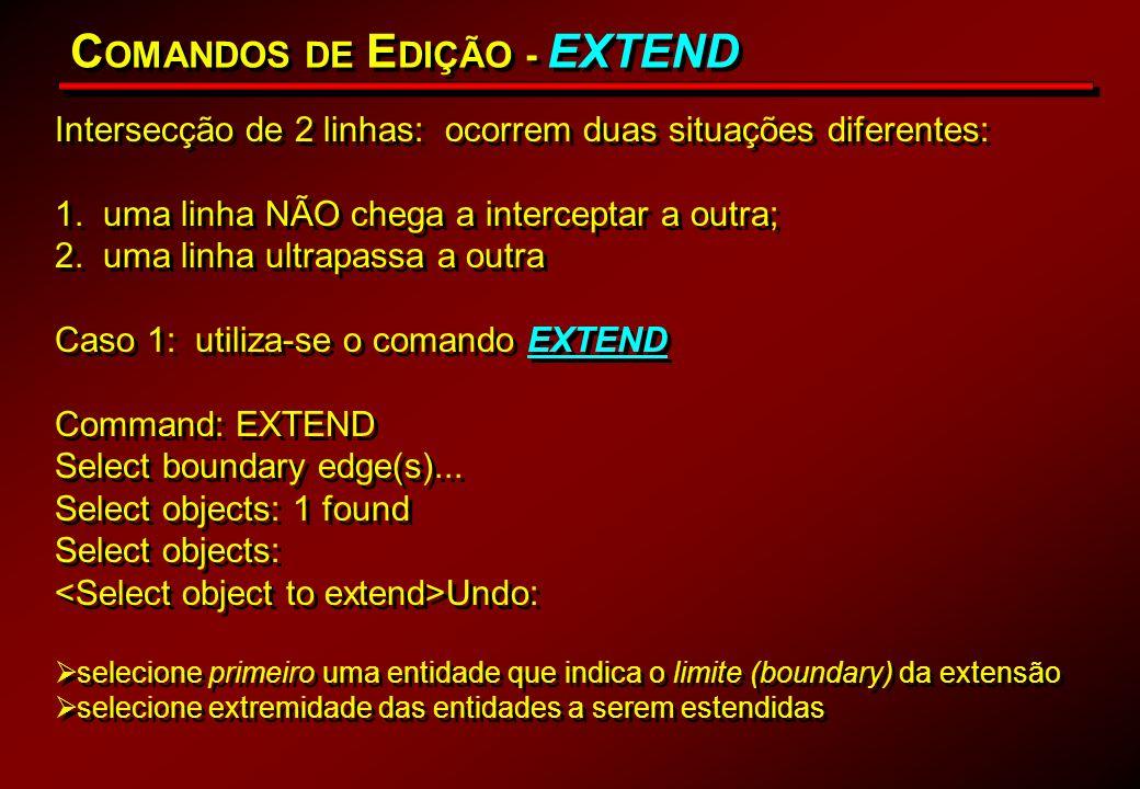 COMANDOS DE EDIÇÃO - EXTEND