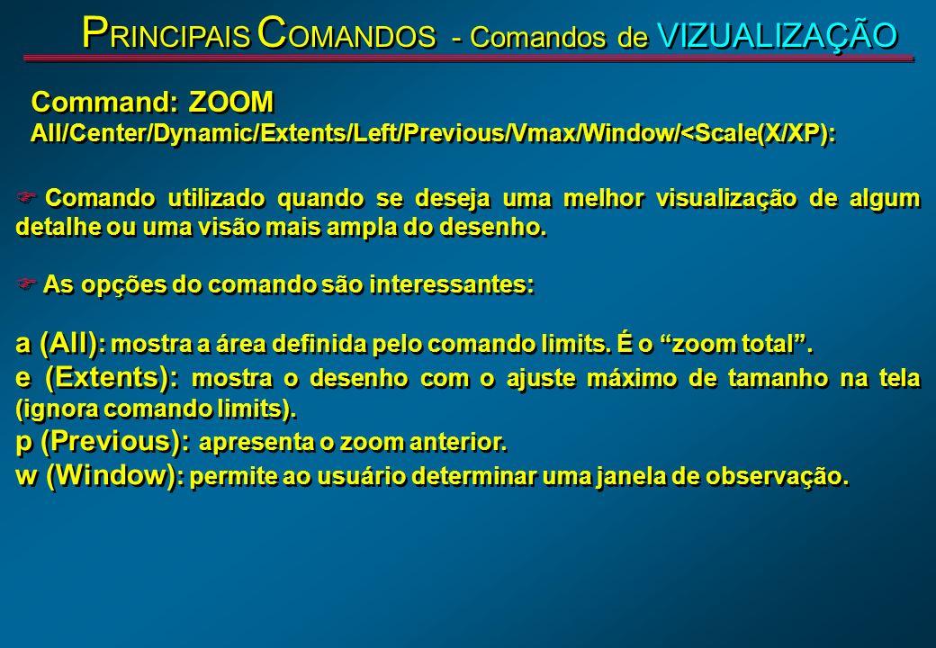 PRINCIPAIS COMANDOS - Comandos de VIZUALIZAÇÃO