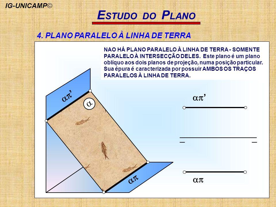 ESTUDO DO PLANO ap' a ap 4. PLANO PARALELO À LINHA DE TERRA