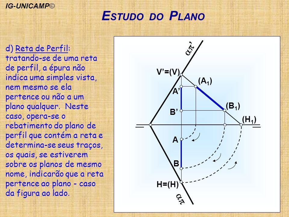 IG-UNICAMP© ESTUDO DO PLANO. ap. ap' H=(H) B. A. A' B' V'=(V) (A1) (B1) (H1)