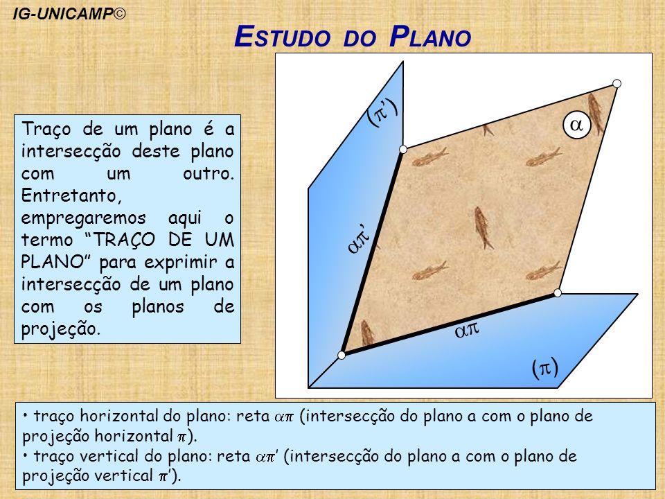 ESTUDO DO PLANO (p') a ap' ap (p)