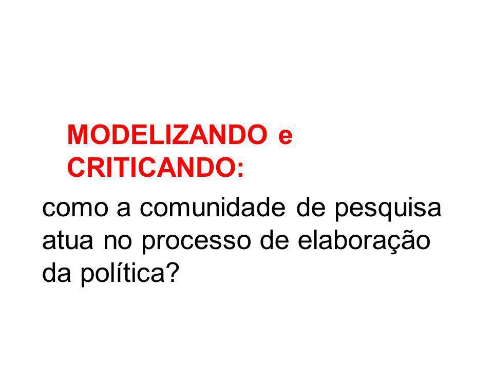 MODELIZANDO e CRITICANDO: