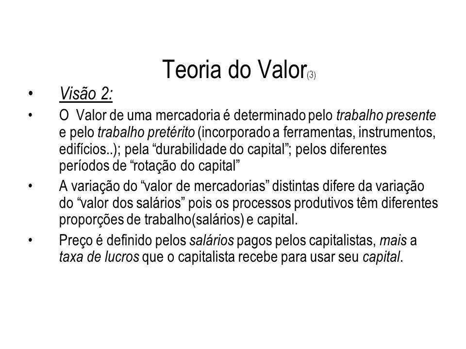 Teoria do Valor(3) Visão 2: