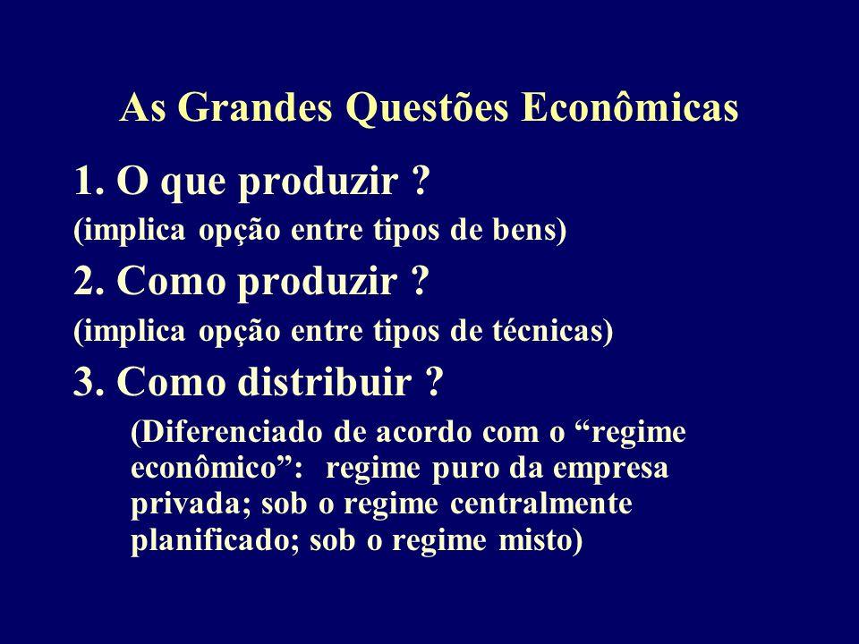 As Grandes Questões Econômicas