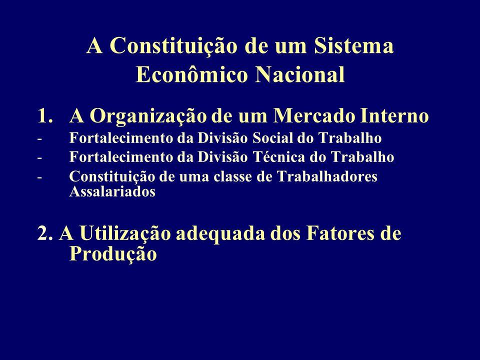 A Constituição de um Sistema Econômico Nacional