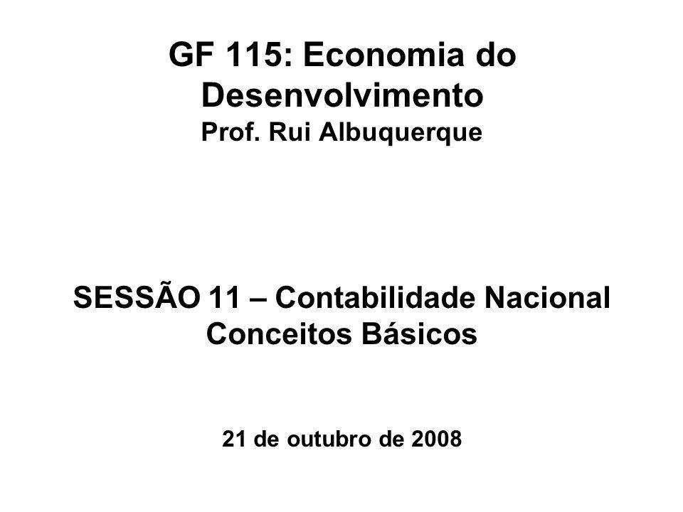 GF 115: Economia do Desenvolvimento Prof