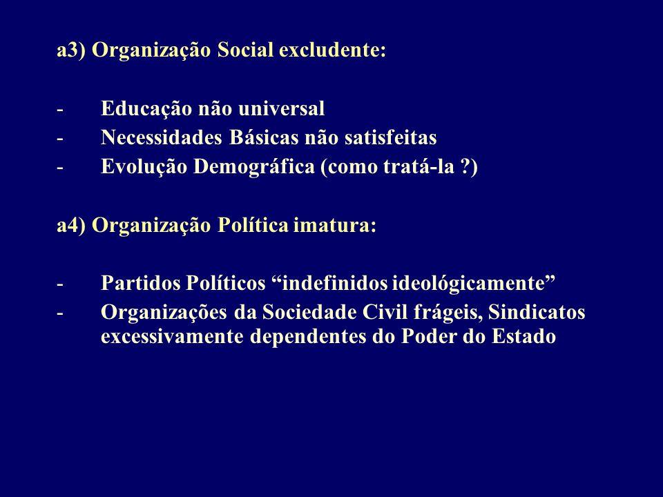 a3) Organização Social excludente: