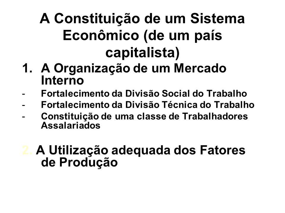A Constituição de um Sistema Econômico (de um país capitalista)