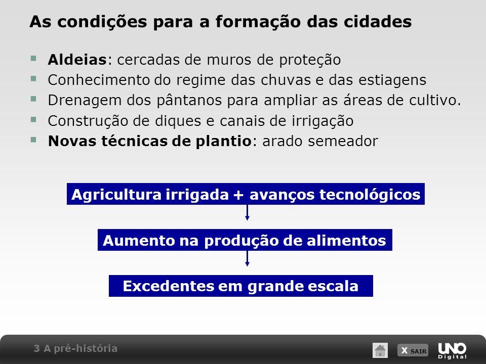 As condições para a formação das cidades