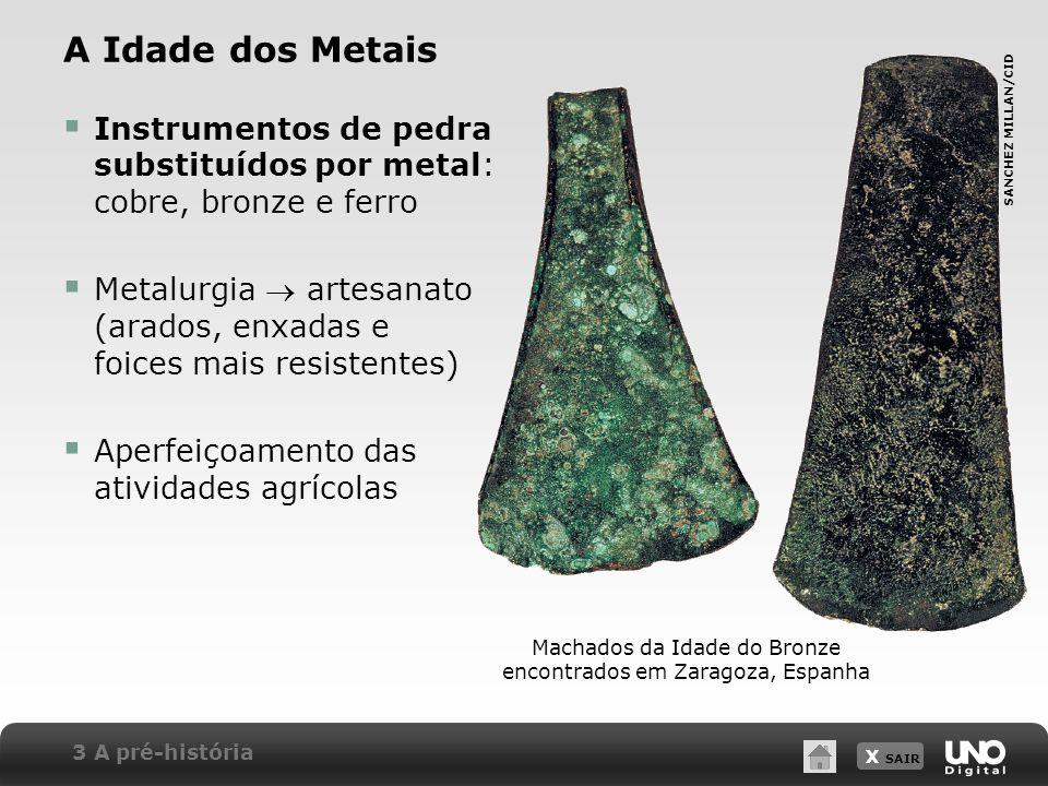 Machados da Idade do Bronze encontrados em Zaragoza, Espanha