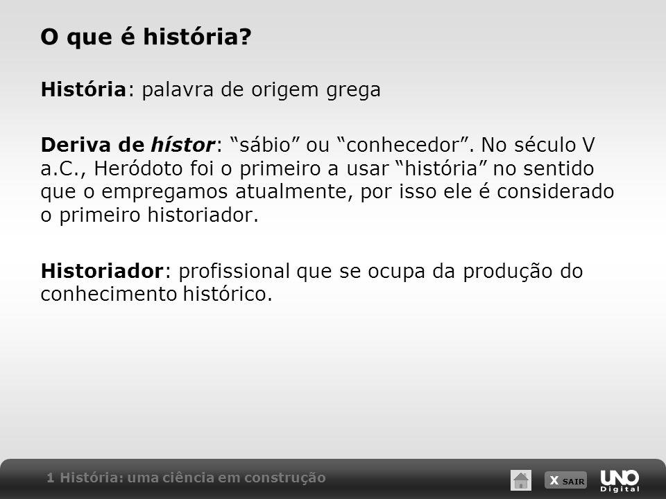 O que é história História: palavra de origem grega