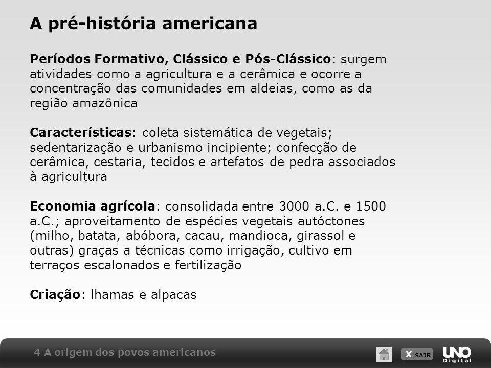 A pré-história americana