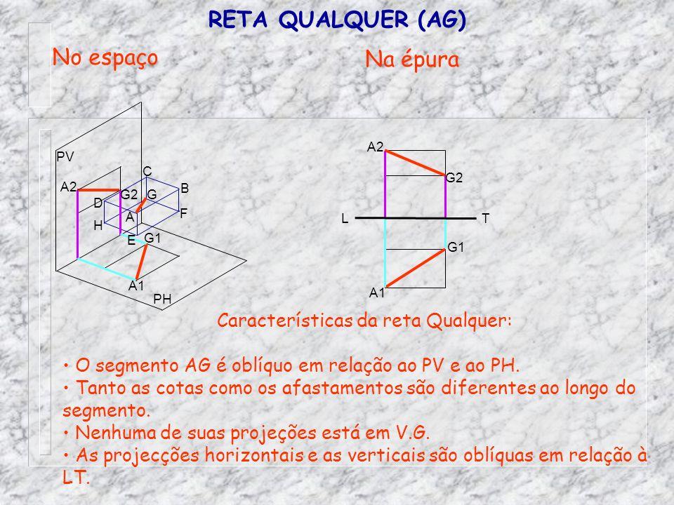 Características da reta Qualquer: